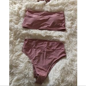 Other - Rose mauve bandeau bikini set